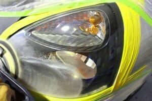 ヘッドライト磨き 黄ばみ取り 研磨後