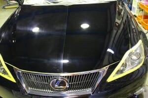 ウルトラストロングコート USC 施工中 比較 レクサス 黒  画像3