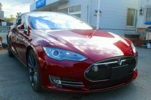 液体ガラスコーティングをテスラ(Tesla Model S)へ施工5