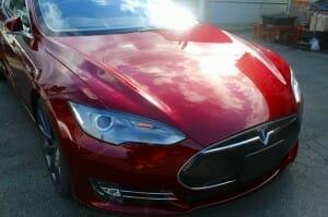 液体ガラスコーティングをテスラ(Tesla Model S)へ施工4
