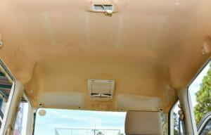 タバコのヤニ汚れ 天井(ルーフ) 車内クリーニング