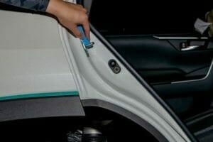 車 ガラスコーティング USCプレミアム インステップ横
