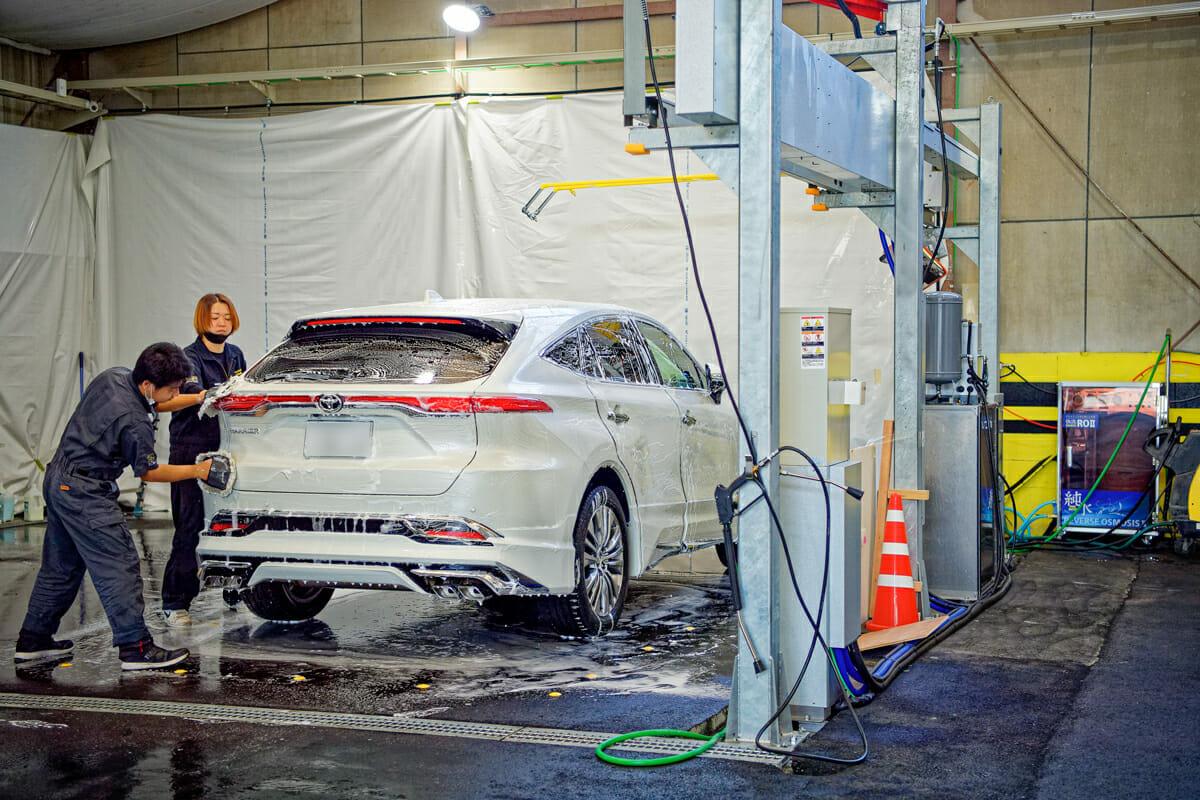 手洗い洗車 純水_温水
