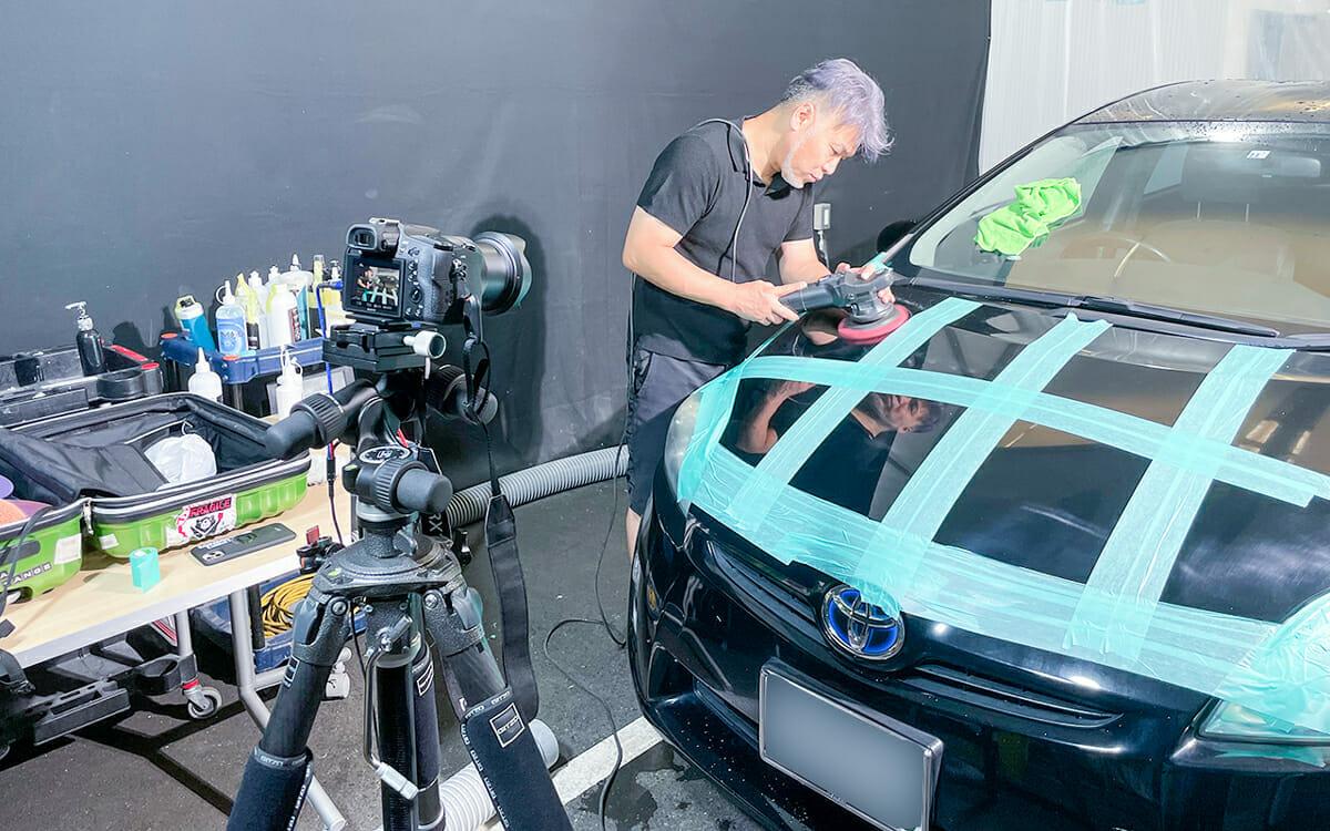 車磨き研磨 ポリッシャー・バフ・コンパウンドの組合せを検証